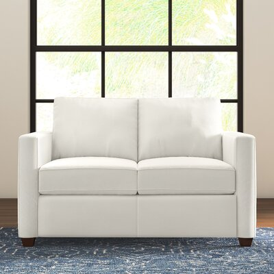 Kate Loveseat Upholstery: Classic Bleach White