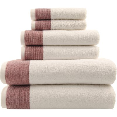 Claudine 6-Piece Towel Set Color: Red