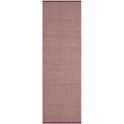 Ollie Hand-Woven Cotton Cardinal Area Rug Rug Size: Runner 23 x 8