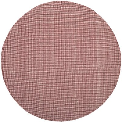 Ollie Hand-Woven Cotton Cardinal Area Rug Rug Size: Round 6