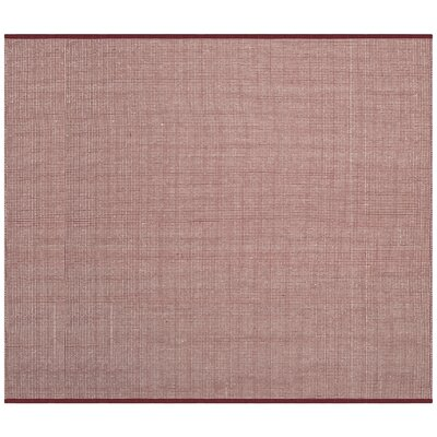 Ollie Hand-Woven Cotton Cardinal Area Rug Rug Size: Square 6