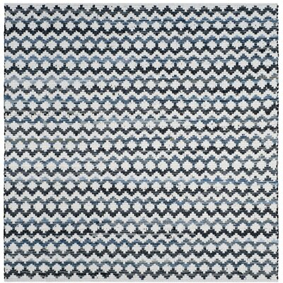 Layne Hand-Woven Cotton Area Rug Rug Size: Square 6