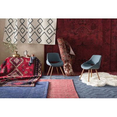 Dobson Hand-Tufted Blue Area Rug Rug Size: Runner 26 x 8