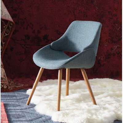 Aird Dining Chair Finish: Blue, Leg Finish: Bent Wood Frame