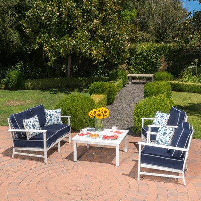 Riveria 4-Piece Conversation Set with Sunbrella Loveseat