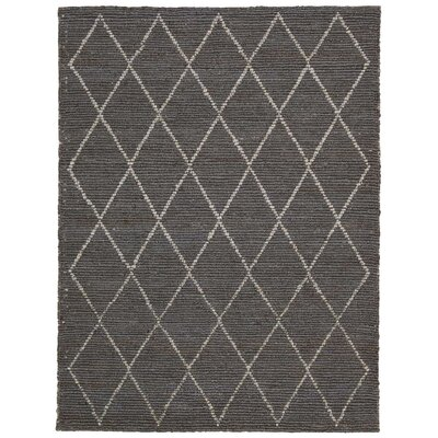 Cordell Handmade Charcoal Area Rug Rug Size: Rectangle 53 x 75