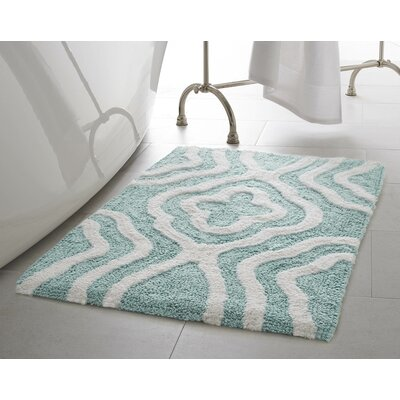 Maureen Bath Mat Color: Aqua