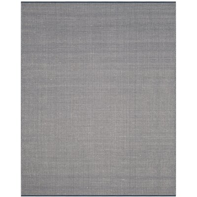Ollie Hand-Woven Cotton Navy Area Rug Rug Size: Rectangle 9 x 12