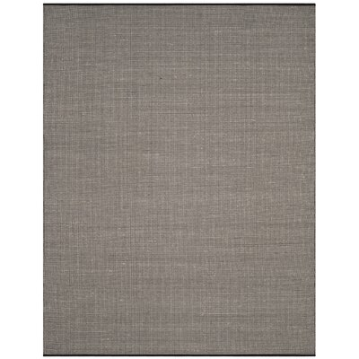 Ollie Hand-Woven Cotton Black Area Rug Rug Size: Rectangle 9 x 12