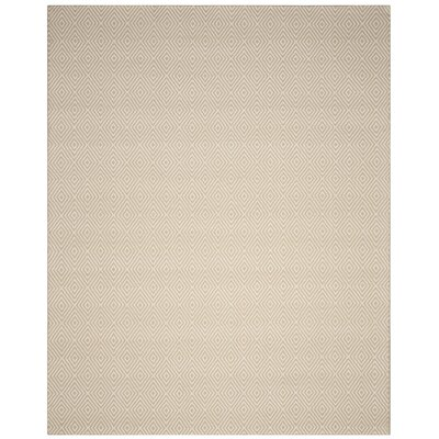 Kris Hand-Woven Taupe Area Rug Rug Size: Rectangle 9 x 12