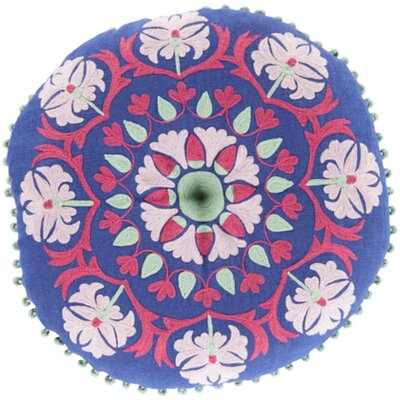 Marrakesh Embroidered Linen Pillow Color: Iris