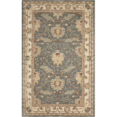Constance Hand-Tufted Blue Area Rug Rug Size: Rectangle 66 x 96