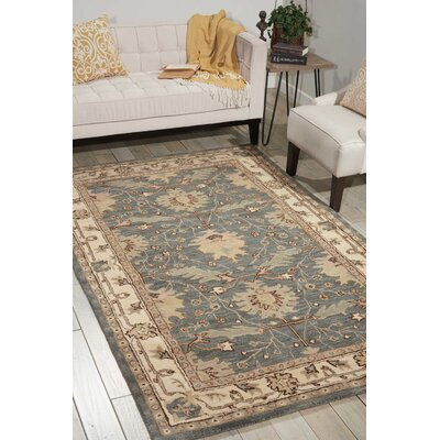 Constance Hand-Tufted Blue Area Rug Rug Size: Rectangle 5 x 8