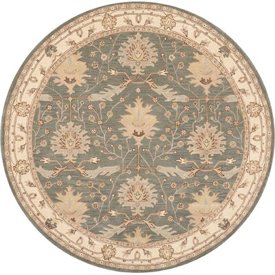 Constance Hand-Tufted Blue Area Rug Rug Size: Round 8