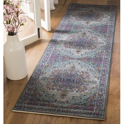 Donald Light Gray Area Rug Rug Size: Runner 22 x 8