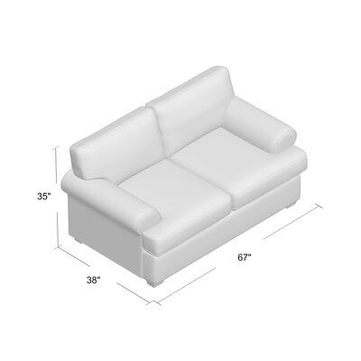 Wright Loveseat Upholstery: Classic Bleach White