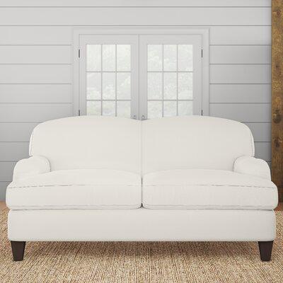 Cheshire Loveseat Upholstery: Classic Bleach White