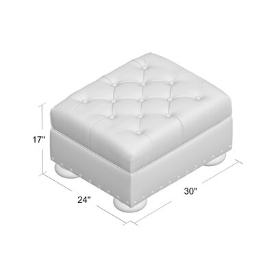 Miller Leather Cocktail Ottoman Upholstery: Steamboat Chestnut