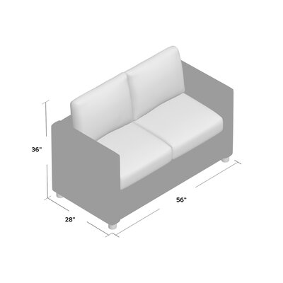 Jacobs Loveseat Upholstery: Spinnsol Iron