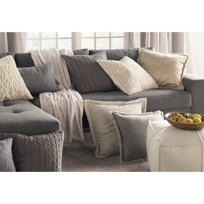 Gardiner 100% Cotton Throw Pillow Color: Medium Gray, Fill Material: PolyFill