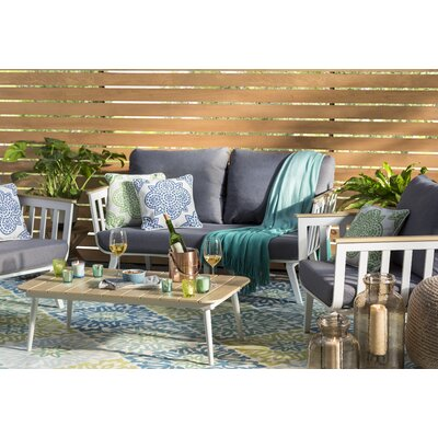 Sun n Shade Sweet Things Marine Indoor/Outdoor Area Rug Rug Size: Rectangle 79 x 1010