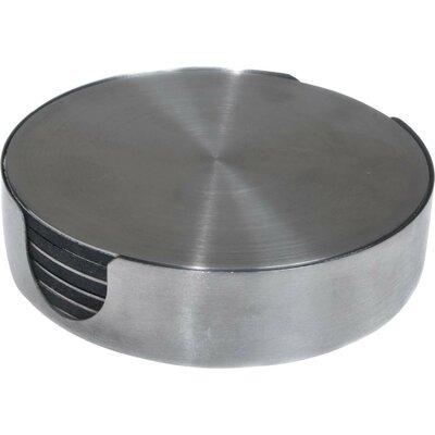 7 Piece Stainless Steel Round Coaster Set N092