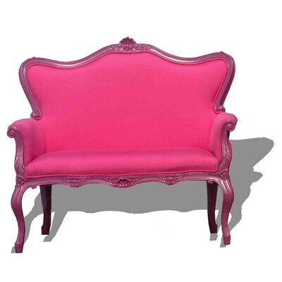 Freeman Outdoor Love Seat Finish: Pink