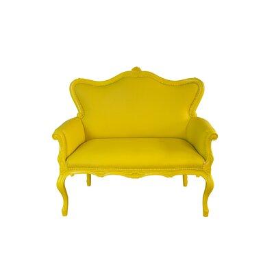 Freeman Outdoor Love Seat Finish: Yellow