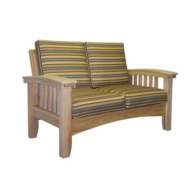 Days End Deep Seating Sofa with Cushion Finish: Natural, Color: Dupione Bamboo