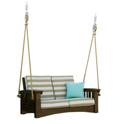 Days End Porch Swing Cushion Fabric: Harwood Crimson