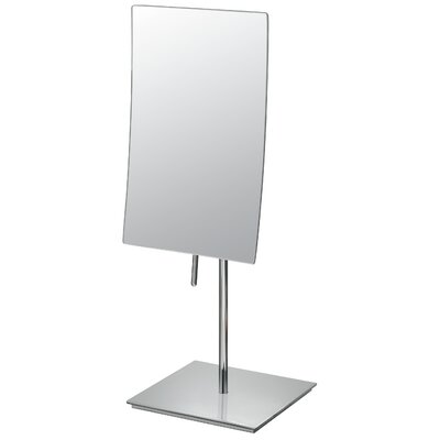 "Mirror Image 13.75"" H x 5"" W Minimalist Rectangular Vanity Mirror Finish: Chrome"