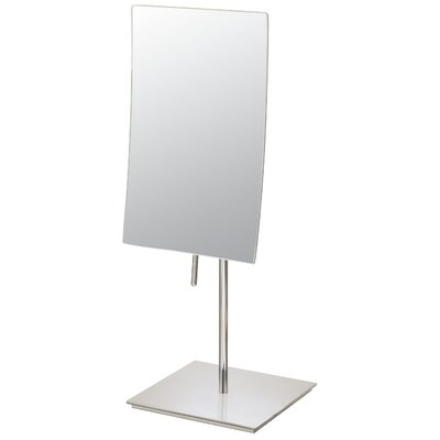 Mirror Image Minimalist Rectangular Vanity Mirror Finish: Brushed Nickel