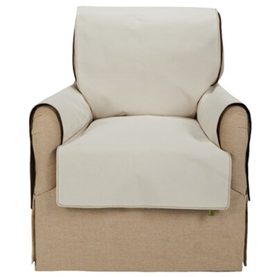 Members Only Club Chair Cover Upholstery: Ivory