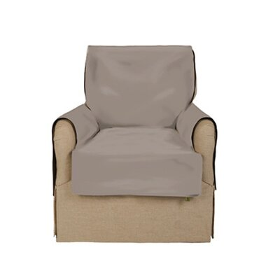 Box Cushion Armchair Slipcover Upholstery: French Gray