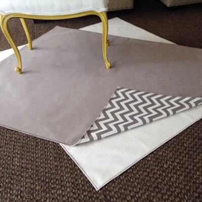 Drop Zone Gray Area Rug / Splat Mat Color: Ivory