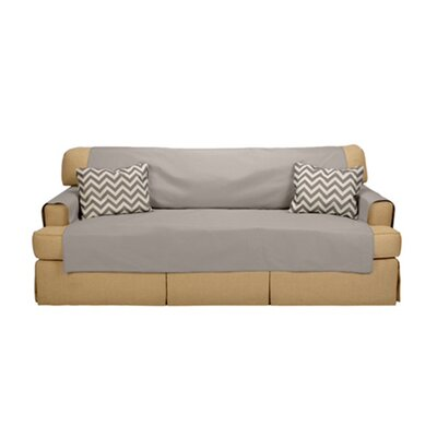 Sofabulous T-Cushion Sofa Slipcover Upholstery: French Gray