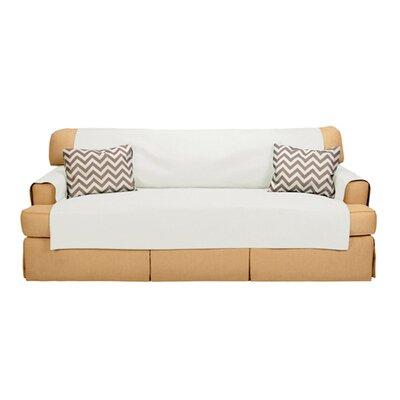 Sofabulous T-Cushion Sofa Slipcover Upholstery: Ivory