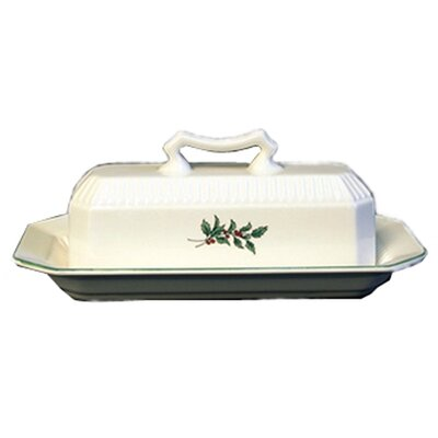 Christmastime Butter Dish And Lid