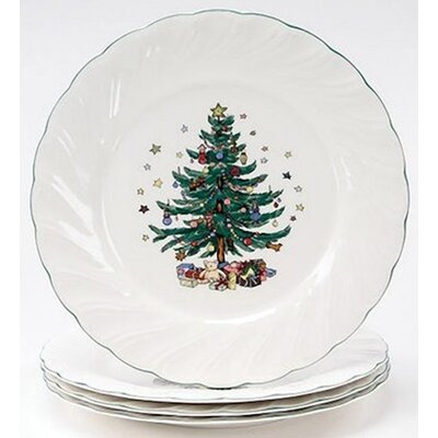 Happy Holidays 10.5 Dinner Plate (set Of 4)