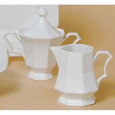 Classic White Sugar Bowl And Lid