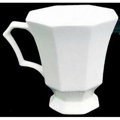 Classic White 12 Oz. Coffee Mug With Footed (set Of 4)