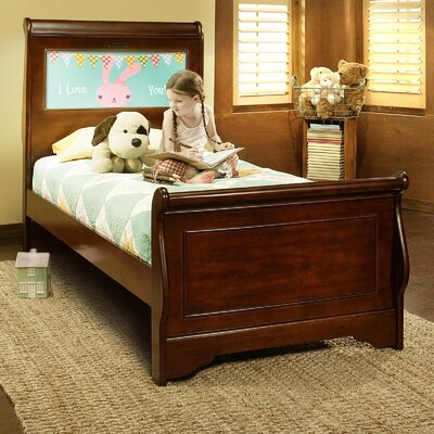 Edgewood Sleigh Bed Finish: Cheshire Cherry, Size: Twin