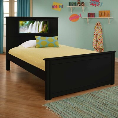 Rivera Storage Platform Bed Finish: Black, Size: Twin