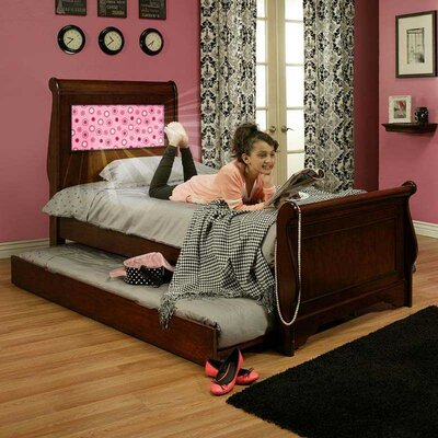 Edgewood Full/Double Sleigh Bed Color: Chesire Cherry, Size: Twin