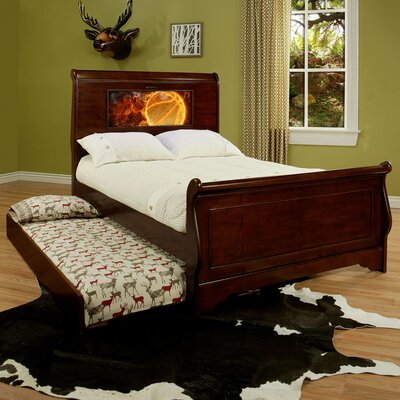 Edgewood Full/Double Sleigh Bed Upholstery: Chesire Cherry, Size: Full