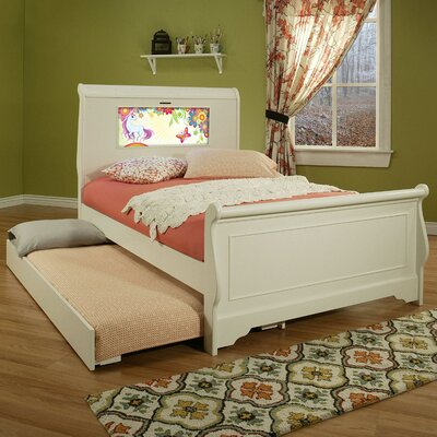 Edgewood Full/Double Sleigh Bed Color: White, Size: Full