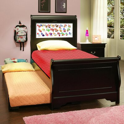 Edgewood Full/Double Sleigh Bed Color: Black, Size: Twin