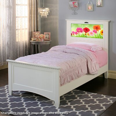 Canterbury Platform Bed Color: Satin White, Size: Twin
