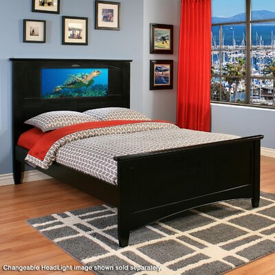Canterbury Platform Bed Color: Satin Black, Size: Twin