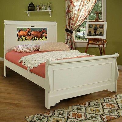 Edgewood Sleigh Bed Size: Full, Finish: Satin White